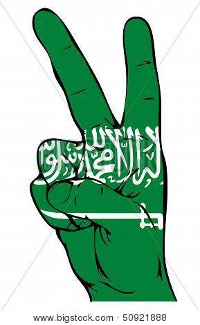 Peace Sign of the Saudi-Arabian flag
