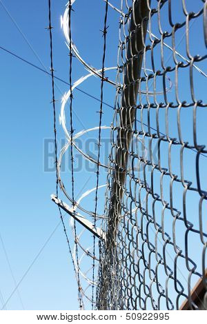Barbwire fence