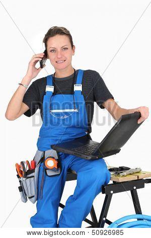 repair woman ready to take the job !