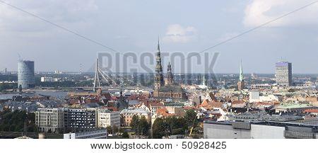 Latvia, Riga. City Panorama.
