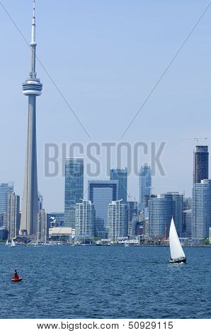 Toronto Harbor With Cn Tower