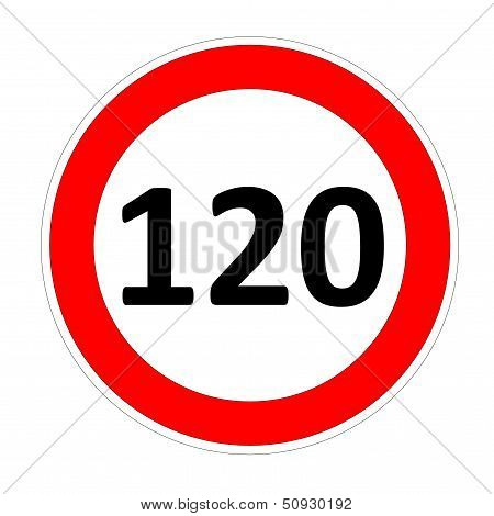 120 speed limit sign