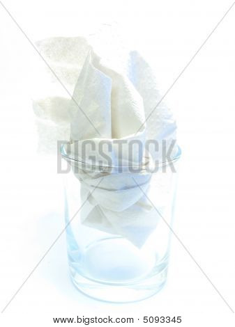 Simple Paper Napkin In A Glass