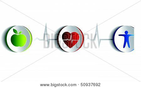 Healthy Lifestyle Symbols