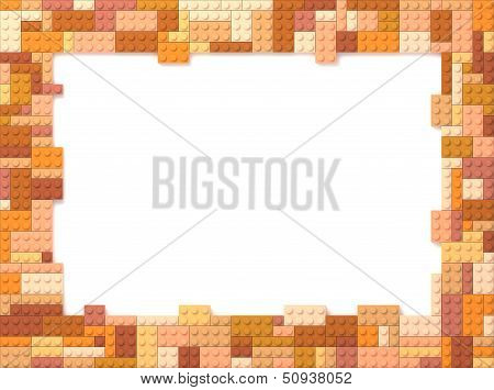 Toy Bricks Picture Frame - Orange