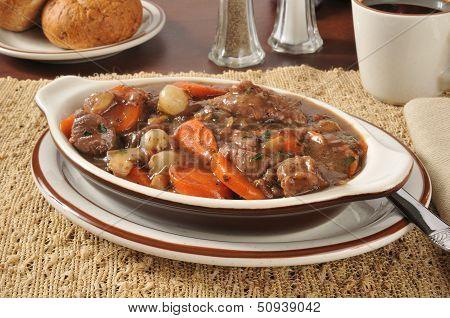 Rich Beef Stew Bourguignon