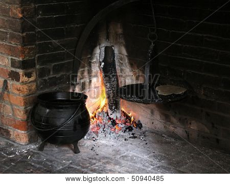Early 1900 wood oven and cook pot