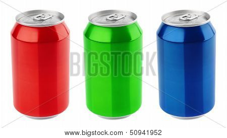 Set Of Aluminum Cans