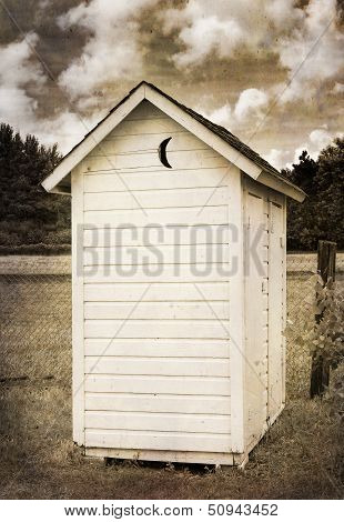 Two Holer Outhouse