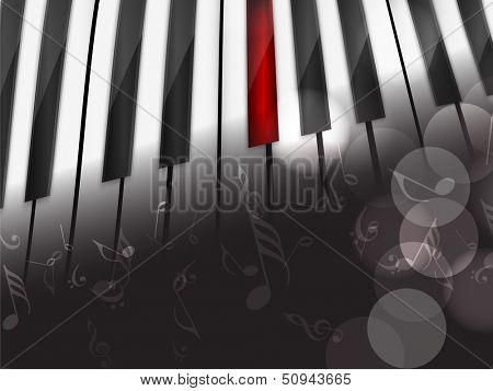 Music concept with piano, can be use as flyer, poster, banner or background for musical parties and concert.