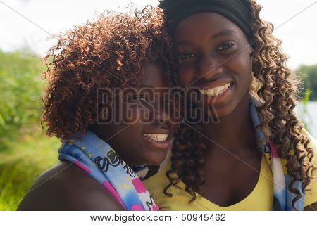 Portrait Of 2 Black Sisters