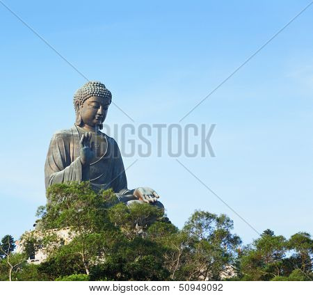 Giant buddha in Hong Kong