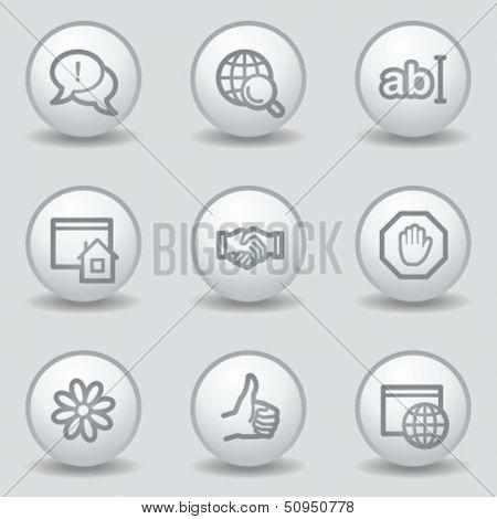 Internet  web icons set 1, circle white matt buttons