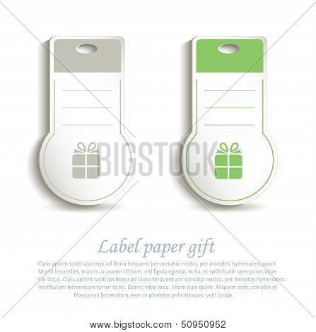 vector label paper 3D gift