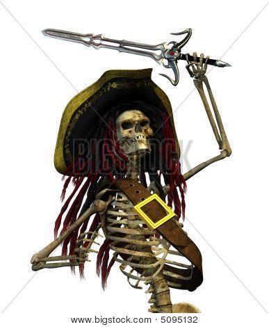 Fighting Skeleton Pirate