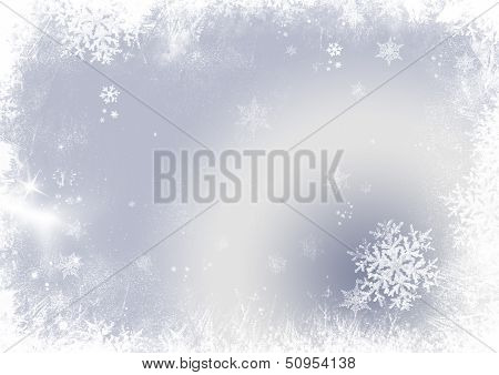 Snow Flake Christmas Background