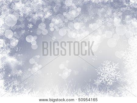 Snow Flake Christmas Background