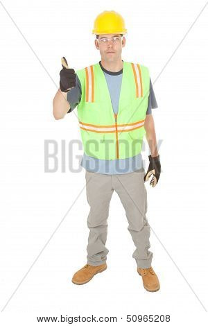 Construction Worker Gives You Thumbs Up