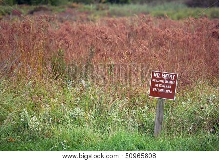 Marsh Do Not Enter Warning Sign