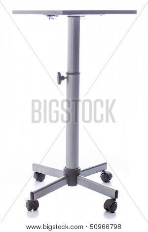 Table with wheels on white background