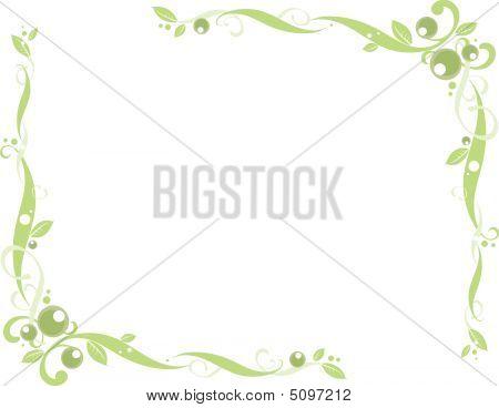 Green Floral Corner