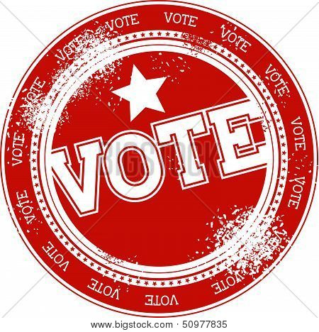 vote grunge stamp vector
