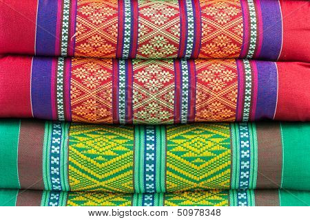 Background Fabric, Color samples - Stock Image