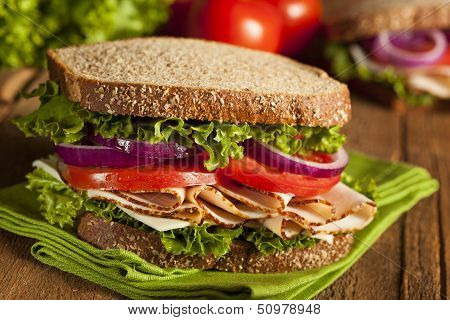 Homemade Turkey Sandwich