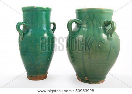 Green Clay Jug