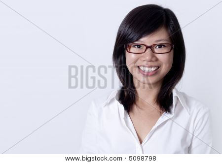 Asian College Student Portrait.