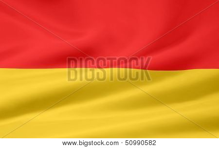 High resolution flag of Burgenland - Austria