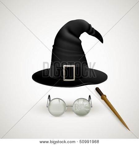 Tools of the sorcerer, eps10 vector