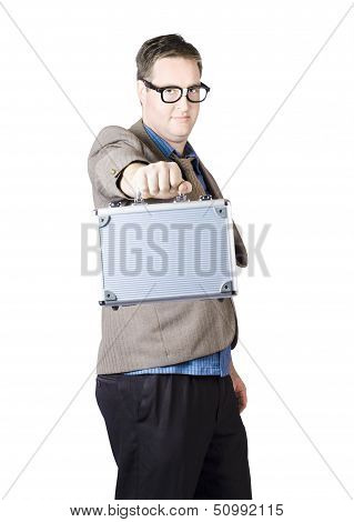 Businessman Showing His Briefcase