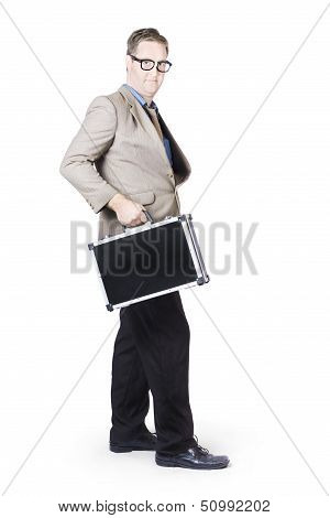 Businessman With Office Briefcase