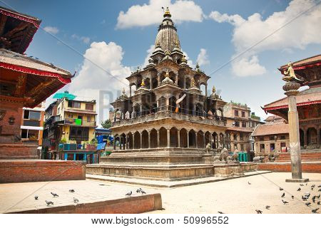 Krishna Mandir Temple, Durbar Square, Patan, Lalithpur city. Nepal.