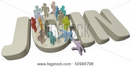 Helping hand to new member to JOIN the people of a social group or company