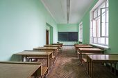 MOSCOW - MAY 15: Classroom in the Faculty of Physics in Moscow State University on May 15,2013 in Mo