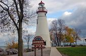 image of marblehead  - marbelhead ohio lighthouse in late fall - JPG