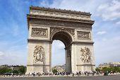 pic of charles de gaulle  - Famous Arc de Triomphe in Paris - JPG
