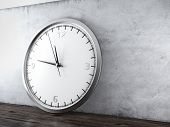 picture of analog clock  - Large wall clock in interior - JPG