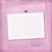 Pink Abstract Background With Paper For Congratulation