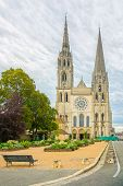 Chartres Cathedral Church Medieval Landmark Front View, France poster