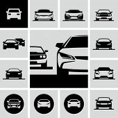 stock photo of car symbol  - Cars icons - JPG