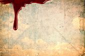 picture of blood  - Blood on vintage paper - JPG