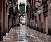 stock photo of medieval  - BARCELONA - JPG