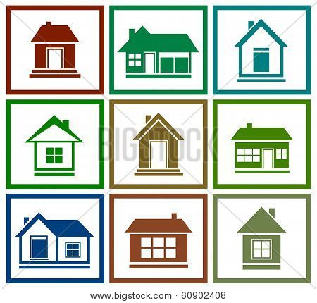 set Icons With Isolated Colorful House.jpg
