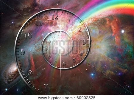 Time space Elements of this image furnished by NASA