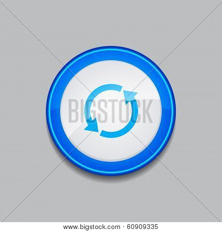 Reset Circular Vector Blue Web Icon Button