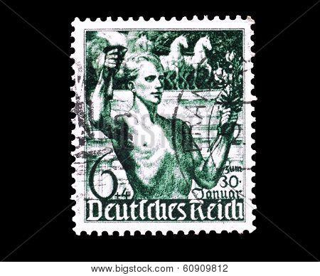 Deutsches reich stamp