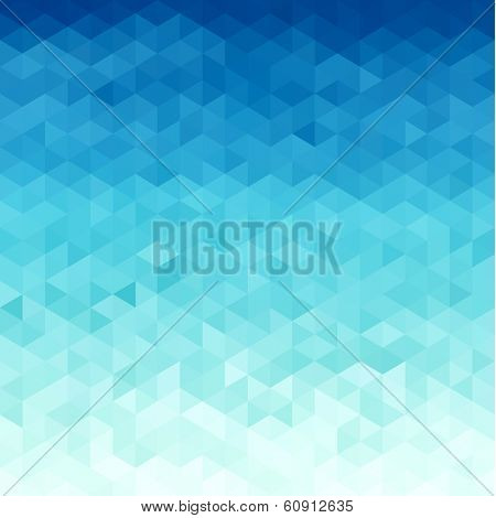 Abstract water  triangular pattern  - raster version